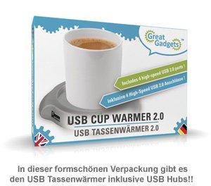 USB Tassenwärmer mit USB-Hub - 3