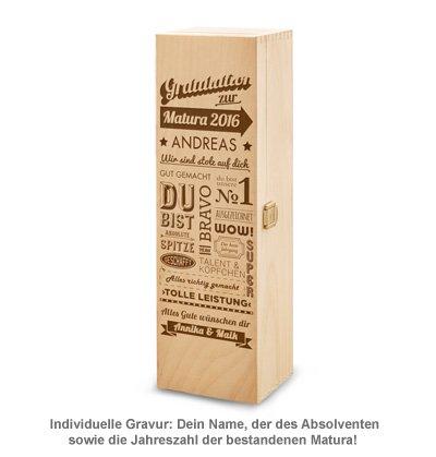 Personalisierte Weinkiste zur Matura - Collage - 2