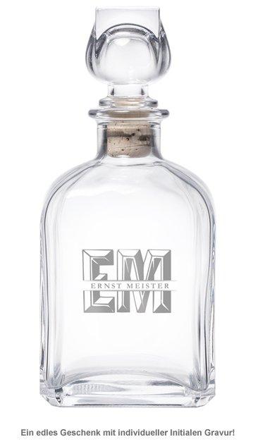Whisky Karaffe mit Gravur - mit XL Initialen - 2