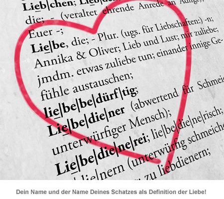 Liebesdefinition - personalisiertes Bild Weiß - 2