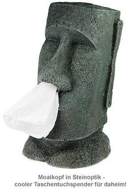 Moai Taschentuchspender - Steingesicht - 3