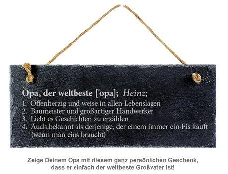 Schiefertafel mit Gravur - Definition Weltbester Opa - 2