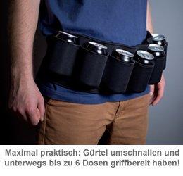 Thermo Trinkgürtel für Dosen - schwarz - 2