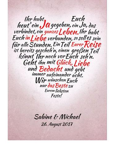 Herz aus Worten - personalisiertes Bild zur Hochzeit - 2