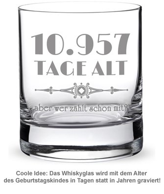 Whiskyglas mit Gravur - Alter in Tagen - 2