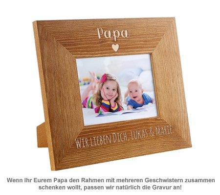 Personalisierter Bilderrahmen - Papa mit Herz - 3