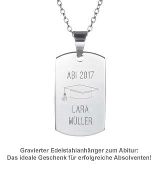Army Dog Tag Kette mit Gravur - Abitur - 2
