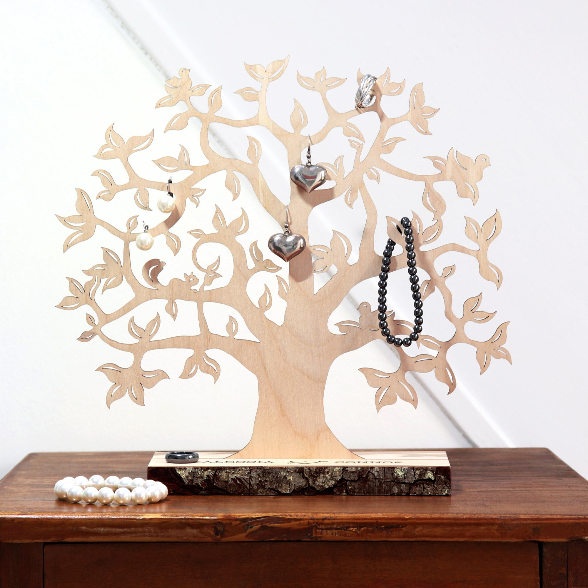 Baum mit Sockel graviert - für Paare (klein) - 2