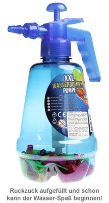 Wasserbombenfüller - Pumpe mit 100 Wasserballons - blau - 2