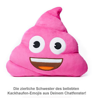 Emoji Kissen - Kackhaufen Pink Poo - 2