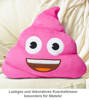 Emoji Kissen - Kackhaufen Pink Poo - 3