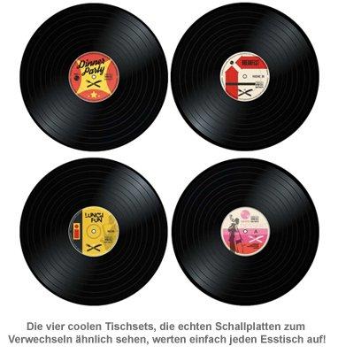 Tischset im Vinyl Schallplatten Look - 4-teilig - 2
