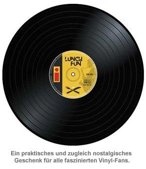 Tischset im Vinyl Schallplatten Look - 4-teilig - 4