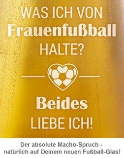 Bierglas mit Gravur - Frauenfußball - 4