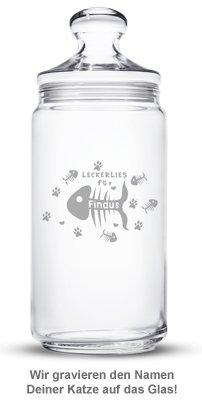 Leckerlies für Katzen - personalisiertes Vorratsglas - 3