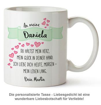 Personalisierte Tasse - Liebesgedicht - 2