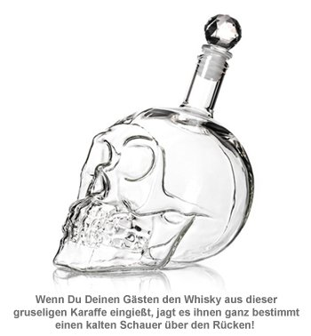Whisky Karaffe Totenkopf - Crystal Head Bottle - 2