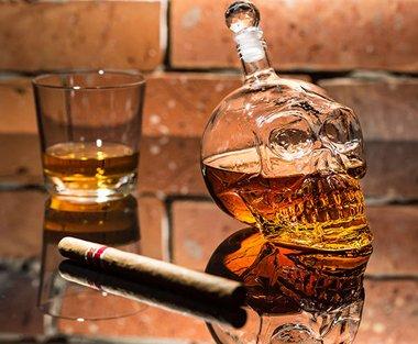 Whisky Karaffe Totenkopf - 3