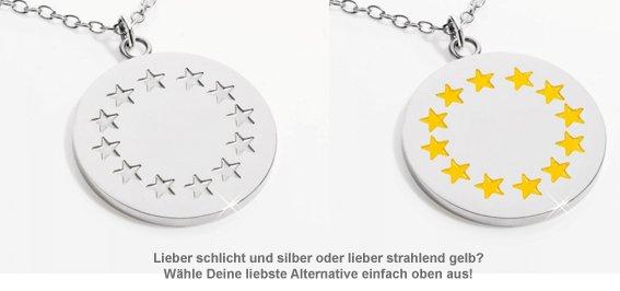 Runder Kettenanhänger mit Gravur - Sternenkranz - 2