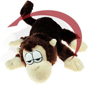 Kuscheltier Affe mit Bewegungssensor und Sound - 3