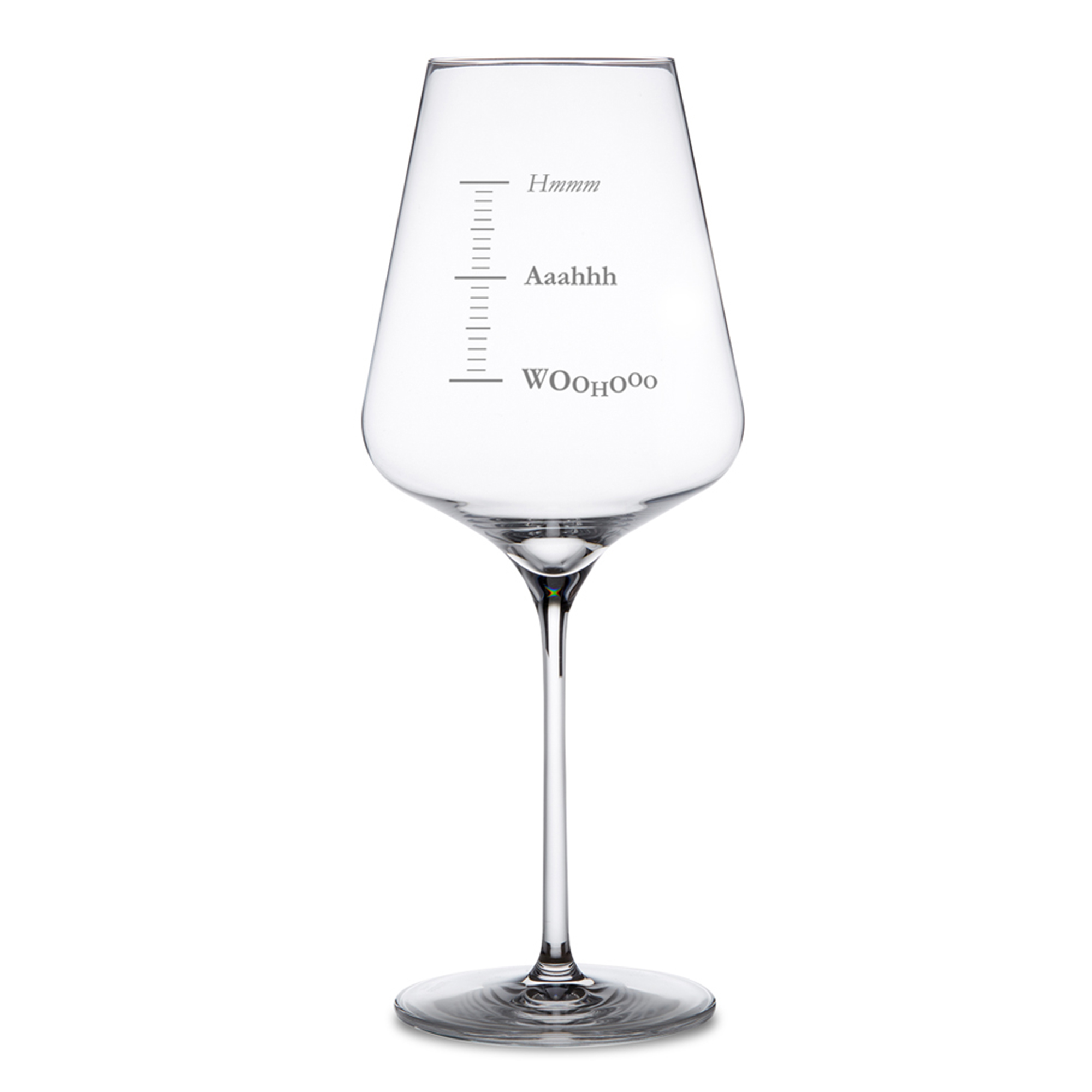 Weinglas mit Gravur - Woohooo - 2