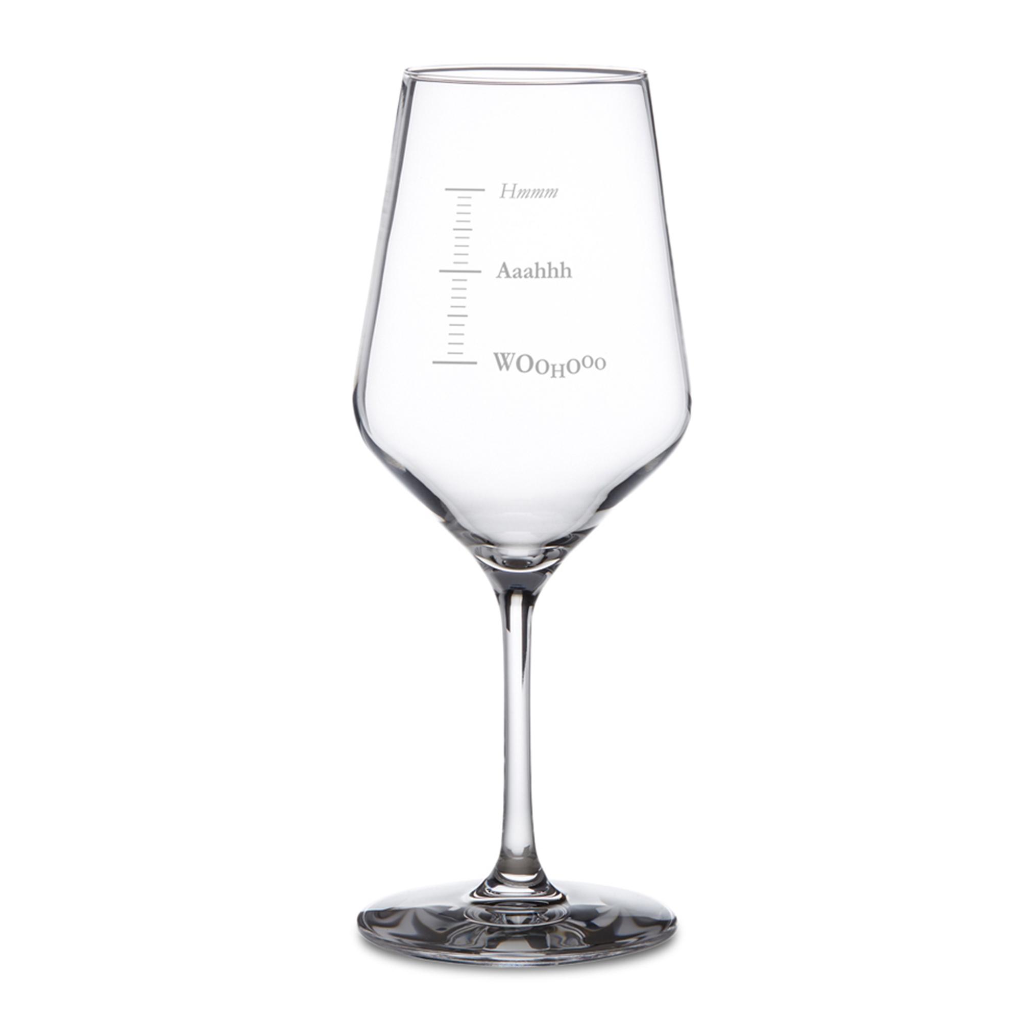 Weißweinglas mit Gravur - Woohooo - 2