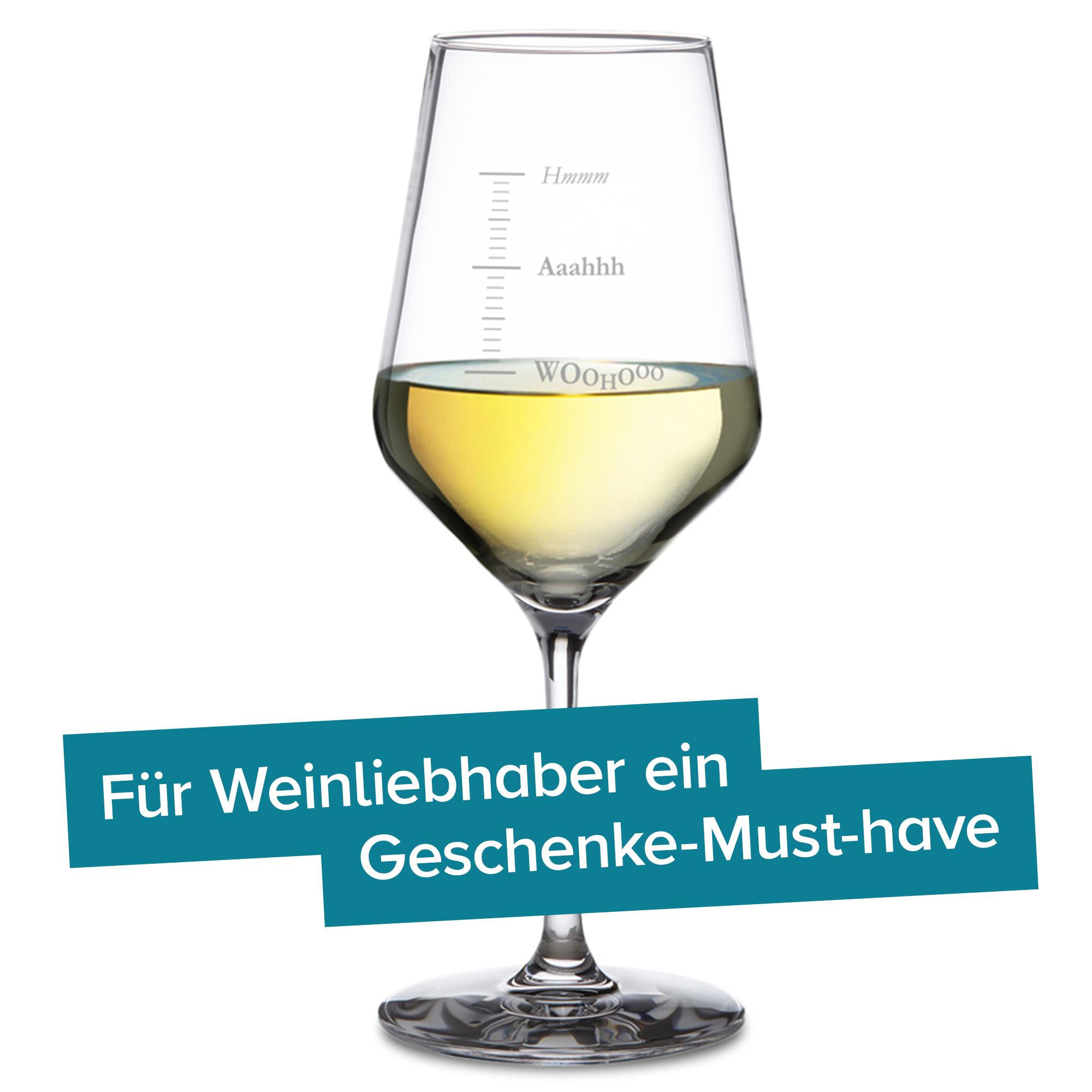 Weißweinglas mit Gravur - Woohooo - 3