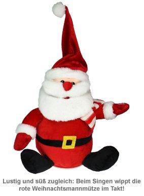 Singender Weihnachtsmann mit tanzender Mütze - 3