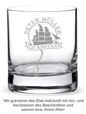 Personalisiertes Rumglas zum Geburtstag - Segelschiff - 2