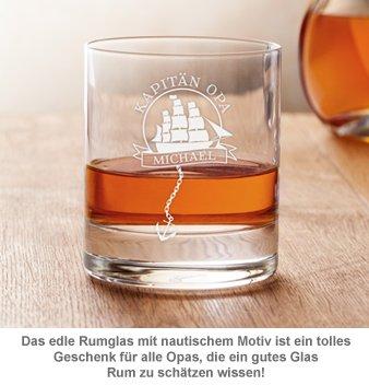 Personalisiertes Rumglas für Opa - Segelschiff - 3