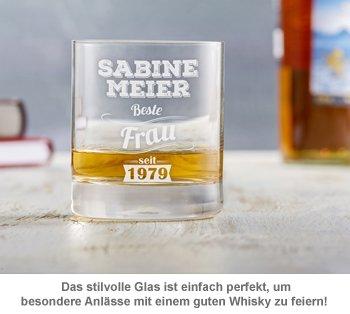 Whiskyglas mit Gravur - Beste Frau - 3