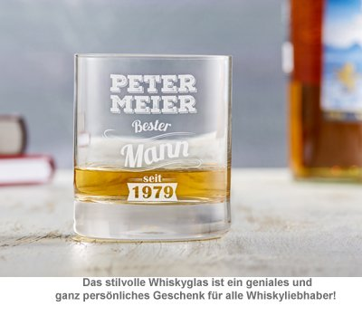 Whiskyglas mit Gravur - Bester Mann - 3