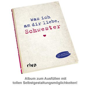 Buch zum Ausfüllen - Was ich an Dir liebe, Schwester - 2