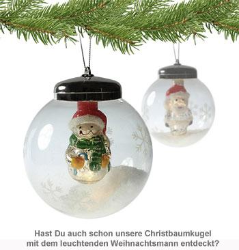 LED Weihnachtskugel - Schneemann - 3