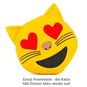Emoji Powerbank - Katze - 2