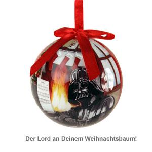 Rote star wars weihnachtskugel darth vader am kamin - Star wars weihnachtsbaum ...