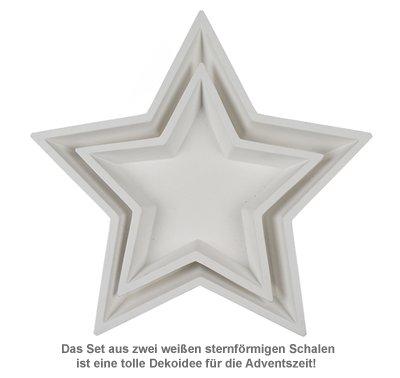 Deko Holzschalen mit Gravur - Stern Weiß - 3