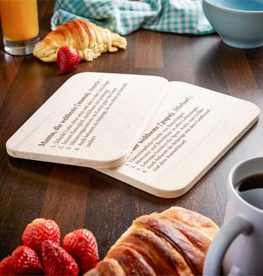 Frühstücksbrettchen Set mit Gravur - Definition Eltern - 4