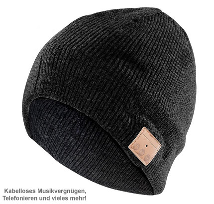 Bluetooth Beanie Mütze mit Kopfhörern - 2