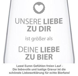 Bierglas - Unsere Liebe - 4