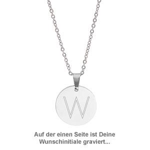 Runder Kettenanhänger Silber - Sternbild mit Initiale - 3
