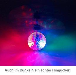 Hubschrauber Ball mit bunter LED-Beleuchtung - 3