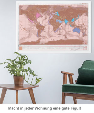 Scratch Map - Rosegold Edition - 3