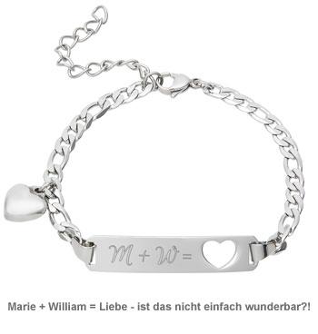Armband mit Herzstanze Silber - Initialengravur - 3