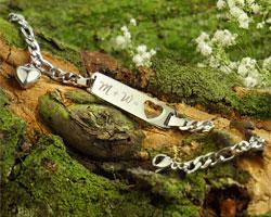 Armband mit Herzstanze Silber - Initialengravur - 4