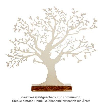 Baum mit Sockel graviert - Kommunion (groß) - 2