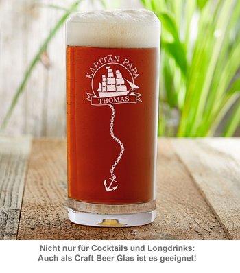 Cocktailglas mit Gravur für Papa - Segelschiff - 3