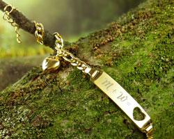 Armband mit Herzstanze Gold - Initialengravur - 4
