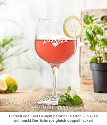 Gin Glas mit Gravur - Herz - 3
