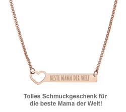 Kette mit Herzstanze Rosegold - Beste Mama - 3